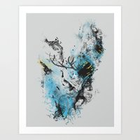 Chaos Thinking Art Print