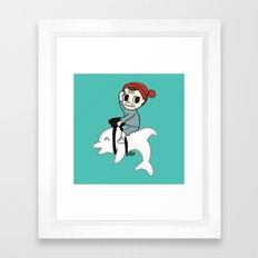 B Team Albino Dolphin Scout Framed Art Print