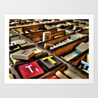 Scrabble (HDR) Art Print