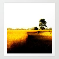 Wheat Fields Art Print