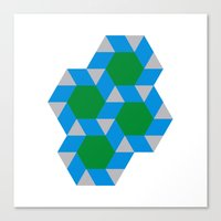 #355 Green suns – Geometry Daily Canvas Print