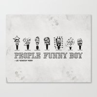 People Funny Boy Canvas Print