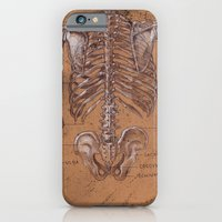 Jesse Young's Human Anatomy Drawing of Skeletal Structure of the Torso (Circa 2005) iPhone 6 Slim Case