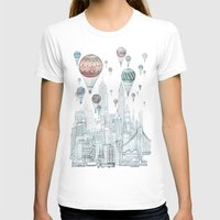 paint T-shirts featuring Voyages Over New York by David Fleck