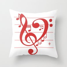 Love Music ~ Valentines … Throw Pillow