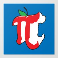 Apple Pi Canvas Print
