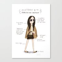 Anatomy of the Parisian (woman) Canvas Print