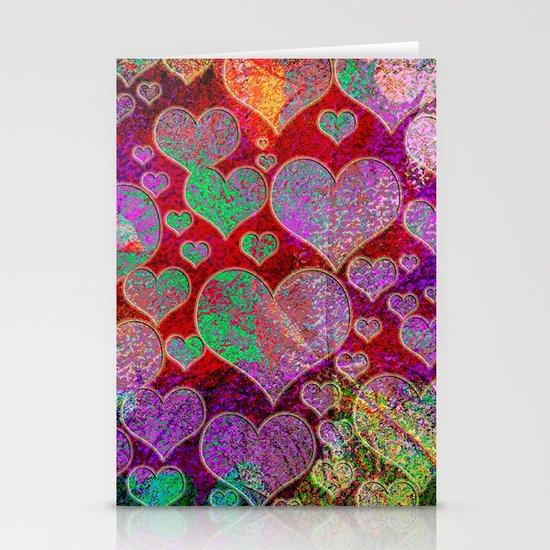 Hearts pattern Stationery Card