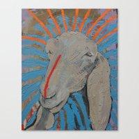 Canvas Print featuring Sheep Head by Anya Smolnikova
