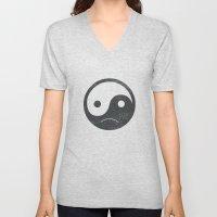 yin yang smiley ;-( Unisex V-Neck