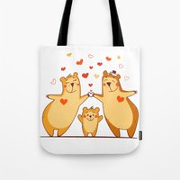 Family Of Bears Tote Bag