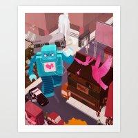 Dance, Lovebot! Dance! Art Print