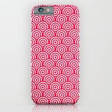 Red/Pink & White Geometric Circle Pattern iPhone 6 Slim Case