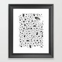 F-ing Flies Framed Art Print