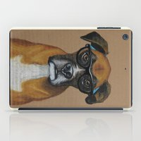 Hipster Boxer dog iPad Case