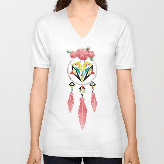 dream flowers V-neck T-shirt