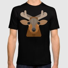 Elk SMALL Black Mens Fitted Tee
