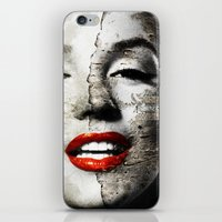 Marilyn Monroe - Wall painting iPhone & iPod Skin