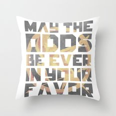 Hunger Games May the Odds Ever be in Your Favor Throw Pillow