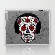 Sugar Skull with headphones Laptop & iPad Skin