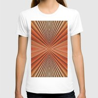 Geometric  Pattern Desig… Womens Fitted Tee White SMALL