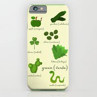 Colors: green (Los colores: verde) iPhone 6 Slim Case