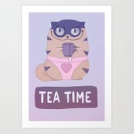 Boggart Tea Time Art Print