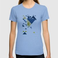 Sky  Womens Fitted Tee Athletic Blue SMALL