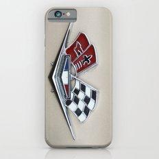 Vintage Corvette Logo (Flags) - Classic Cars Slim Case iPhone 6s