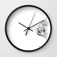A Sketch :: A Sugar Glider Named Loki Wall Clock