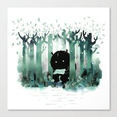 A Quiet Spot (in green) Canvas Print