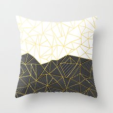 Ab Half and Half White Gold Throw Pillow
