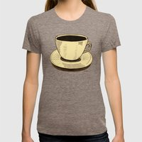 good ol' cup of coffee, I. Womens Fitted Tee Tri-Coffee SMALL