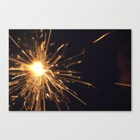 I See Sparks Canvas Print