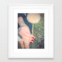Here! Framed Art Print
