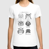 owl T-shirts featuring Caffeinated Owls by Dave Mottram