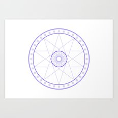 Anime Magic Circle 10 Art Print