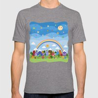 Cute World Mens Fitted Tee Tri-Grey SMALL