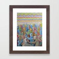Altered Vibrations Framed Art Print