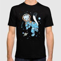Space Ermine Mens Fitted Tee Black SMALL