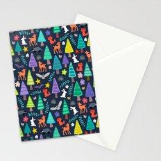 midnight woodland Stationery Cards