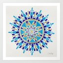 Royal Blue Mandala Art Print