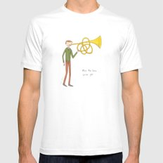 blow the horn you've got SMALL Mens Fitted Tee White