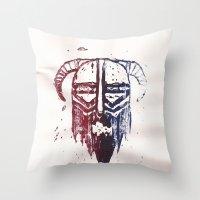 Brutal Viking Throw Pillow