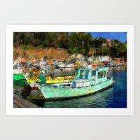 Fisher Boats Art Print