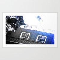 Blue Staircase Art Print