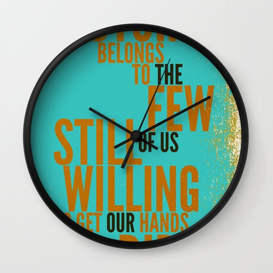 The Future Belongs to You Wall Clock