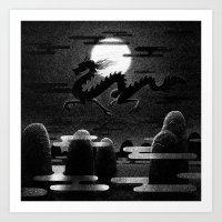Drawlloween 2014: Dragon Art Print