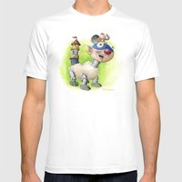 Billymobile Mens Fitted Tee White SMALL