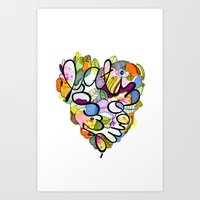 Latinoamérica LOVE Art Print